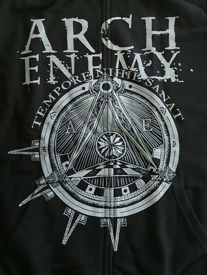 【在庫有り商品】ARCH ENEMY -アーチ・エネミー- LOGO & SYMBOL 「ロゴ・アンド・シンボル」 ジップ・パーカー XLサイズ