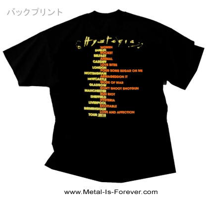 DEF LEPPARD -デフ・レパード- HYSTERIA 2018 TOUR 「ヒステリア・2018ツアー」 Tシャツ