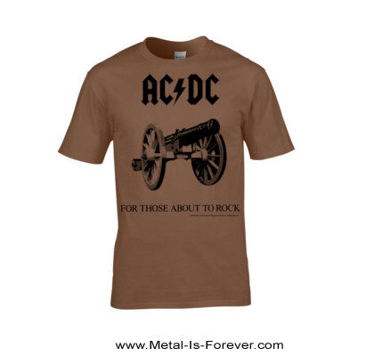 AC/DC (エーシー・ディーシー) FOR THOSE ABOUT TO ROCK (WE SALUTE YOU) 「悪魔の招待状」 Tシャツ(ブラウン)