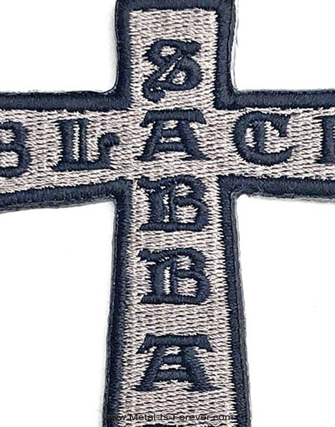 BLACK SABBATH (ブラック・サバス) CROSS 「クロス」 アイロン・ワッペン