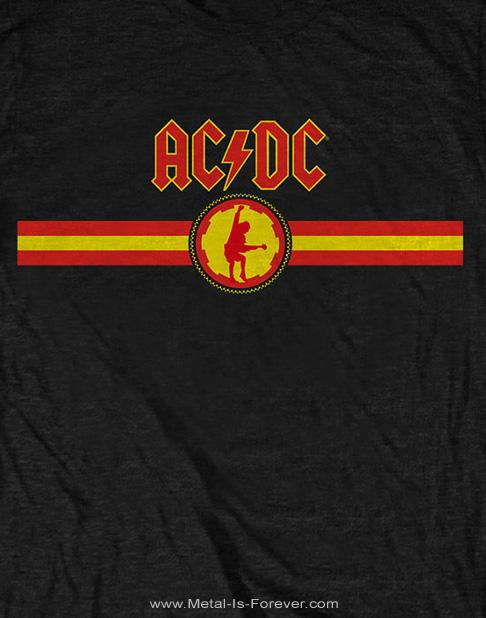 AC/DC (エーシー・ディーシー) LOGO & STRIPE 「ロゴ・アンド・ストライプ」 Tシャツ