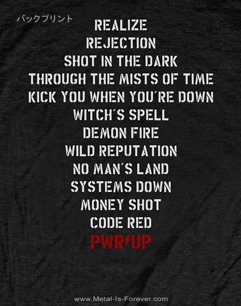 AC/DC (エーシー・ディーシー) POWER UP 「パワーアップ」 トラックリスト Tシャツ