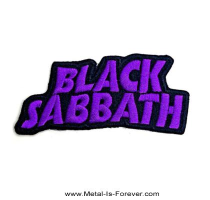 BLACK SABBATH (ブラック・サバス) WAVY LOGO 「ウェイビー・ロゴ」 アイロン・ワッペン