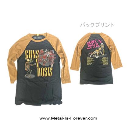 GUNS N' ROSES -ガンズ・アンド・ローゼズ- APPETITE FOR DESTRUCTION 「アペタイト・フォー・ディストラクション」 オリジナル ラグラン七分袖Tシャツ(Sサイズのみ)