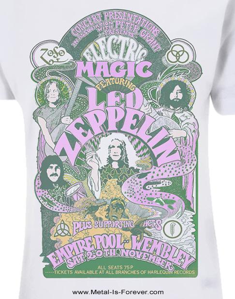 LED ZEPPELIN (レッド・ツェッペリン) ELECTRIC MAGIC SHOW 「エレクトリック・マジック・ショウ」 レディースTシャツ(白)