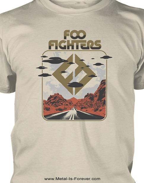 FOO FIGHTERS -フー・ファイターズ- ROSWELL 「ロズウェル」 Tシャツ(サンドカラー)