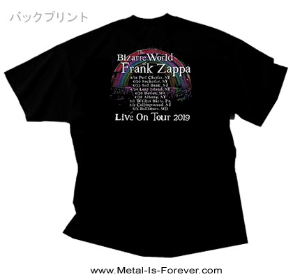 FRANK ZAPPA (フランク・ザッパ) BIZARRE WORLD OF FRANK ZAPPA 2019 TOUR 「ビザール・ワールド・オブ・フランク・ザッパ・2019・ツアー」 Tシャツ