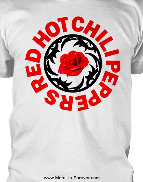 RED HOT CHILI PEPPERS (レッド・ホット・チリ・ペッパーズ) ROSE BSSM CIRCLE 「ローズ・BSSM・サークル」 Tシャツ(白)