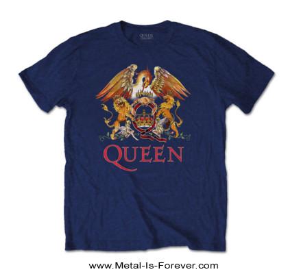 QUEEN (クイーン) CREST 「クレスト」 キッズ Tシャツ(ネイビー・ブルー)