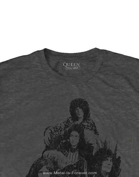 QUEEN (クイーン) 70S PHOTO 「70S・フォト」 Tシャツ(チャコール・グレー)