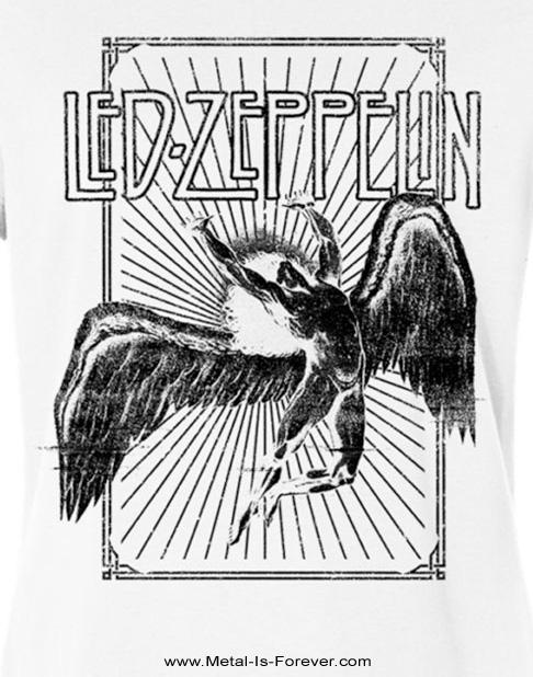 LED ZEPPELIN (レッド・ツェッペリン) ICARUS BURST 「イカロス・バースト」 レディースTシャツ(白)