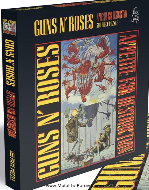 GUNS N' ROSES -ガンズ・アンド・ローゼズ- APPETITE FOR DESTRUCTION 「アペタイト・フォー・ディストラクション」 オリジナル発禁ジャケット 500ピース ジグソーパズル