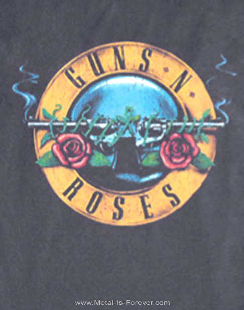 GUNS N' ROSES -ガンズ・アンド・ローゼズ- HOLLYWOOD 「ハリウッド」 1991年ツアー長袖Tシャツ(チャコール・グレー)