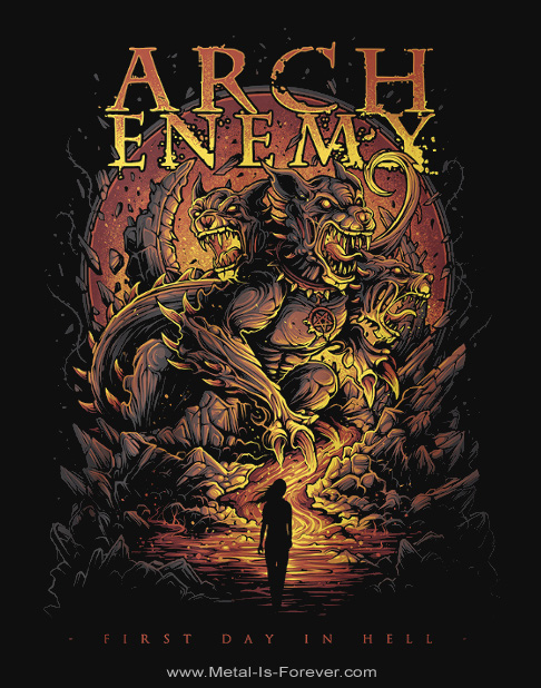 ARCH ENEMY -アーチ・エネミー- FIRST DAY IN HELL 「ファースト・デイ・イン・ヘル」 Tシャツ