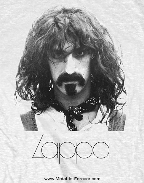 FRANK ZAPPA (フランク・ザッパ) THIN LOGO PORTRAIT 「シン・ロゴ・ポートレート」 Tシャツ(白)