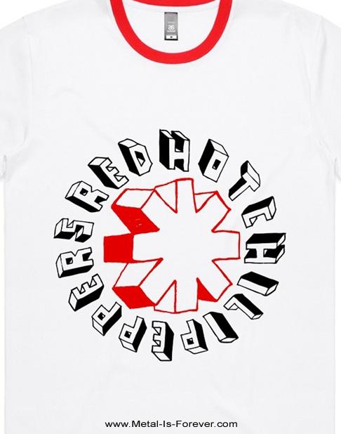 RED HOT CHILI PEPPERS (レッド・ホット・チリ・ペッパーズ) HAND DRAWN 「ハンド・ドローン」 トリムTシャツ(白)