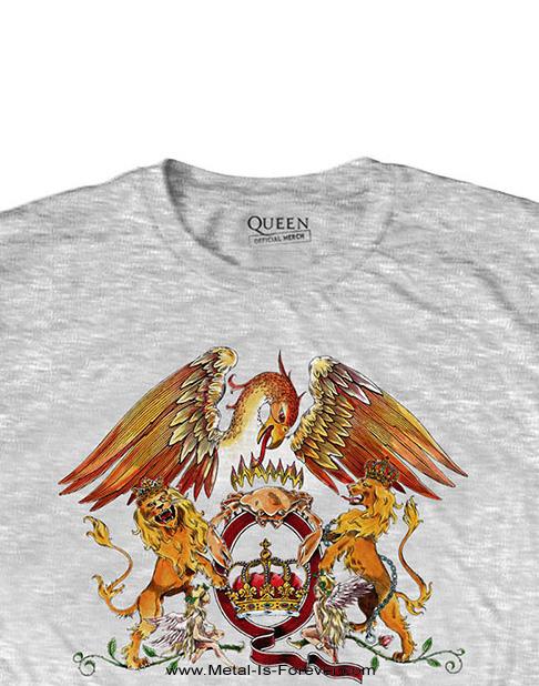 QUEEN (クイーン) CREST 「クレスト」 キッズ Tシャツ(ヘザー・グレー)