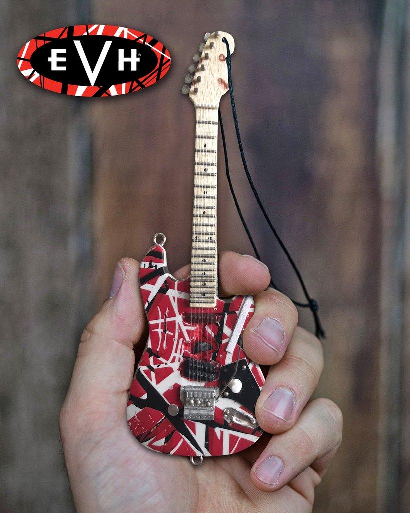 EDDIE VAN HALEN (エディ・ヴァン・ヘイレン) Officially Licensed EVH Frankenstein Guitar/オーナメント / ミニチュア楽器