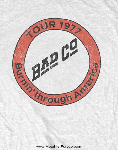 BAD COMPANY (バッド・カンパニー) BURNIN' THROUGH AMERICA 「バーニン・スルー・アメリカ」 Tシャツ(白)