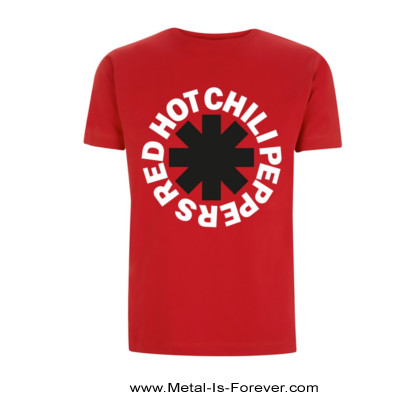 RED HOT CHILI PEPPERS (レッド・ホット・チリ・ペッパーズ) CLASSIC B&W ASTERISK 「クラシック・B&W・アスタリスク」 Tシャツ(赤)