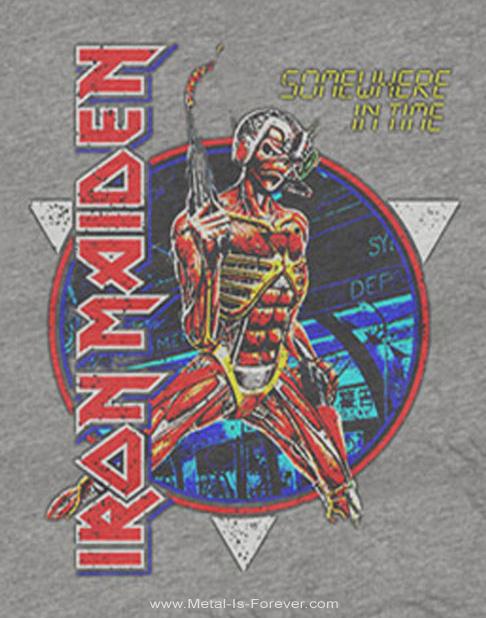 IRON MAIDEN -アイアン・メイデン- SOMEWHERE IN TIME 「サムホエア・イン・タイム」 Tシャツ(グレー)