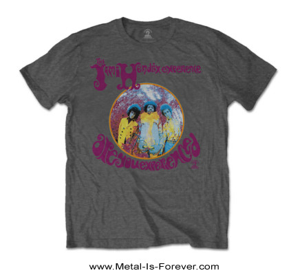 JIMI HENDRIX (ジミ・ヘンドリックス) ARE YOU EXPERIENCED 「アー・ユー・エクスペリエンスト?」 Tシャツ(チャコールグレー)
