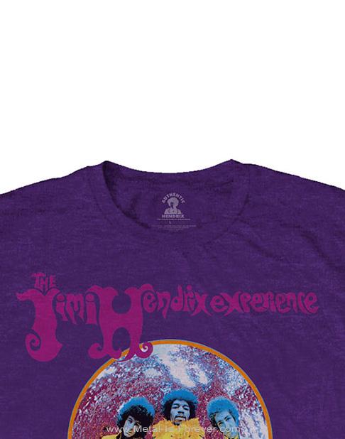 JIMI HENDRIX (ジミ・ヘンドリックス) ARE YOU EXPERIENCED 「アー・ユー・エクスペリエンスト?」 Tシャツ(紫)