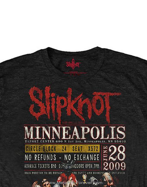 SLIPKNOT (スリップノット) MINNEAPOLIS '09 「ミネアポリス '09」 エコTシャツ