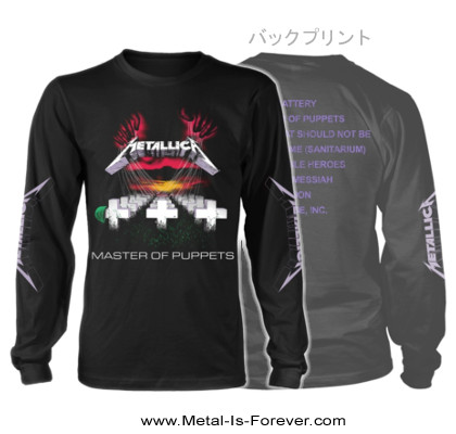 METALLICA -メタリカ- MASTER OF PUPPETS 「メタル・マスター」 長袖Tシャツ