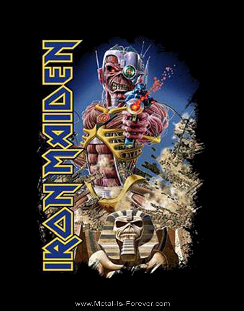 IRON MAIDEN (アイアン・メイデン) SOMEWHERE BACK IN TIME 「時空の覇者」 Tシャツ