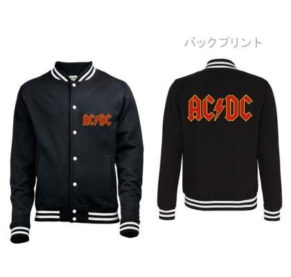 AC/DC -エーシー・ディーシー- CLASSIC LOGO 「クラシック・ロゴ」ベースボール・ジャケット
