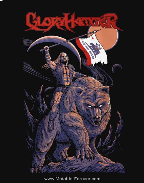 GLORYHAMMER -グローリーハンマー- HOOTS RIDING BEAR 「フーツ・ライディング・ベア」 Tシャツ