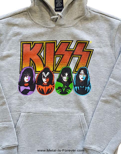 KISS (キッス) LOGO, FACES & ICONS 「ロゴ,フェイス・アンド・アイコン」 パーカー(グレー)