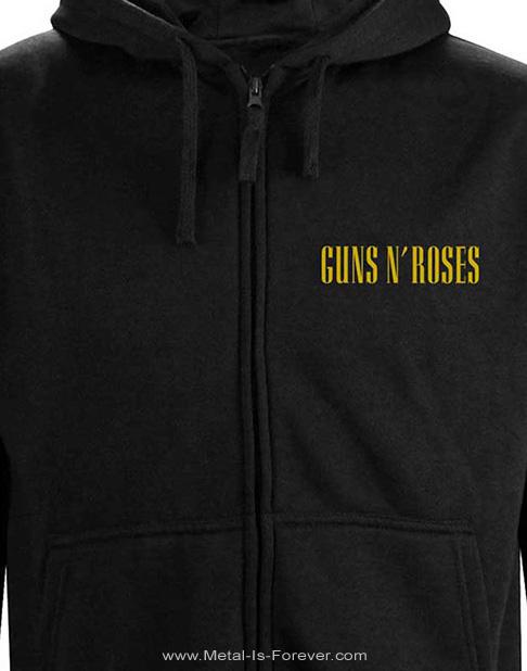 GUNS N' ROSES -ガンズ・アンド・ローゼズ- CLASSIC BULLET LOGO 「クラシック・ブレット・ロゴ」 レディース・ジップ・パーカー