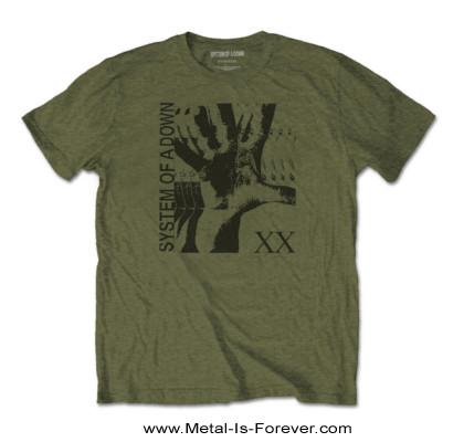 SYSTEM OF A DOWN (システム・オブ・ア・ダウン) INTOXICATED 「インタクスィケイティドゥ」 Tシャツ(カーキ)