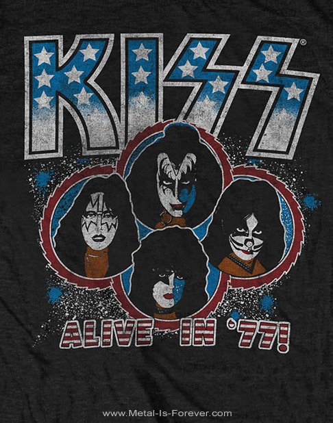 KISS (キッス) ALIVE IN '77 「アライヴ・イン・1977」 Tシャツ
