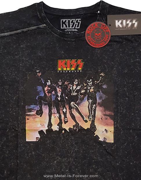 KISS (キッス) DESTROYER 「地獄の軍団」 スノーウォッシュ Tシャツ