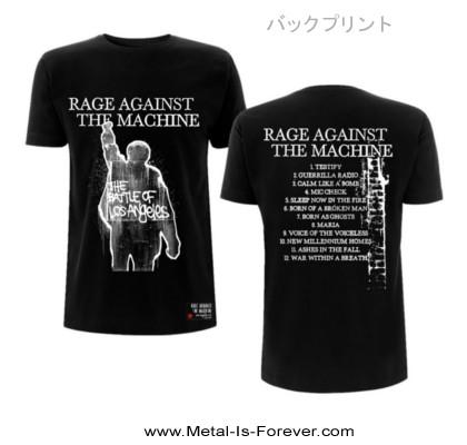 RAGE AGAINST THE MACHINE (レイジ・アゲインスト・ザ・マシーン) BATTLE OF LOS ANGELES 「バトル・オブ・ロサンゼルス」 Tシャツ