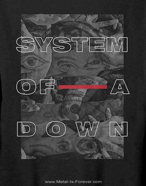 SYSTEM OF A DOWN (システム・オブ・ア・ダウン) EYE COLLAGE 「アイ・コラージュ」 長袖Tシャツ
