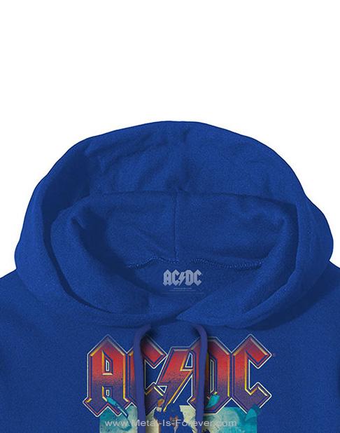 AC/DC (エーシー・ディーシー) BLOW UP YOUR VIDEO 「ブロウ・アップ・ユア・ビデオ」 パーカー(ブルー)