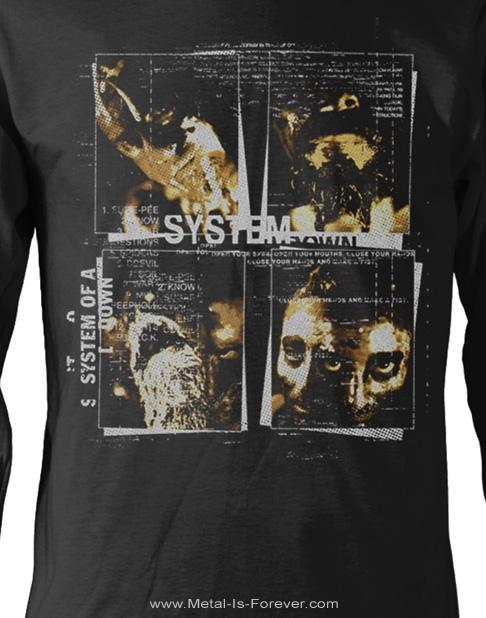 SYSTEM OF A DOWN (システム・オブ・ア・ダウン) FACE BOXES 「フェイス・ボックス」 長袖Tシャツ
