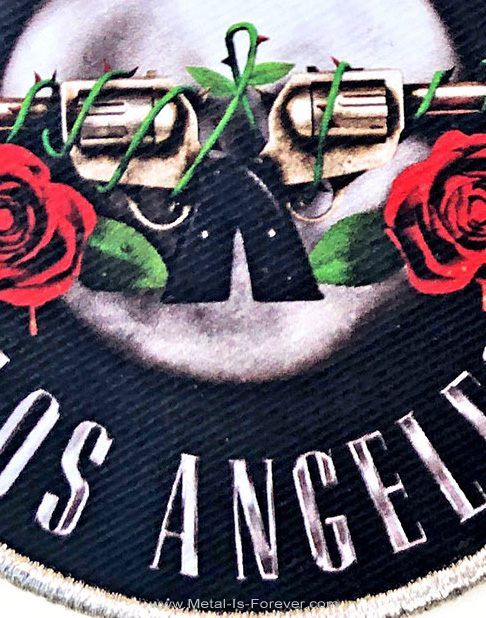 GUNS N' ROSES (ガンズ・アンド・ローゼズ) LOS ANGELES SILVER 「ロサンゼルス・シルバー」 ワッペン