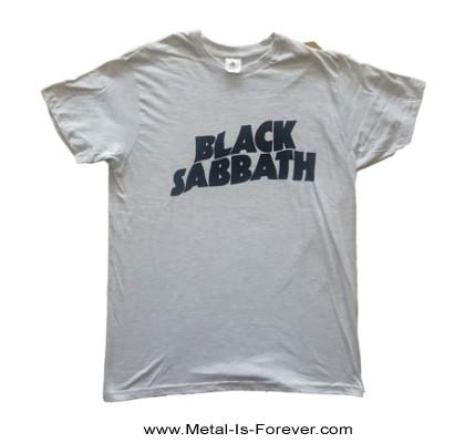 BLACK SABBATH (ブラック・サバス) BLACK WAVY LOGO 「ブラック・ウェイビー・ロゴ」 Tシャツ(グレー)
