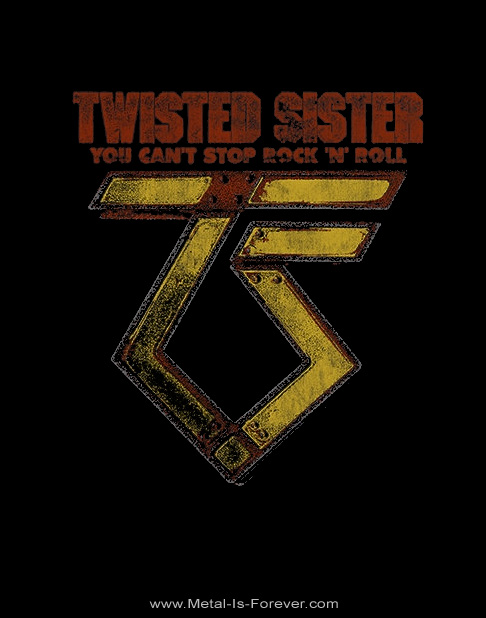 TWISTED SISTER (トゥイステッド・シスター) YOU CAN'T STOP ROCK 'N' ROLL 「ユー・キャント・ストップ・ロックン・ロール」 レディースTシャツ