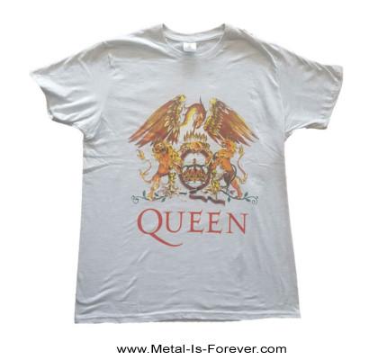 QUEEN (クイーン) CLASSIC CREST 「クラシック・クレスト」 Tシャツ(グレー)