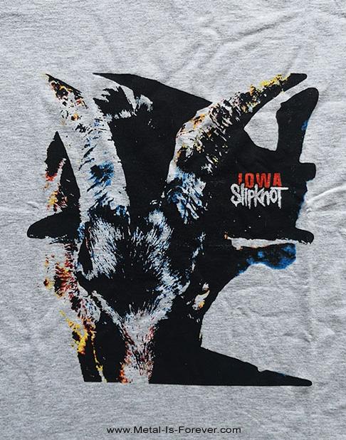 SLIPKNOT (スリップノット) IOWA GOAT SHADOW 「アイオワ・ゴート・シャドー」 レディースTシャツ(ヘザー・グレー)