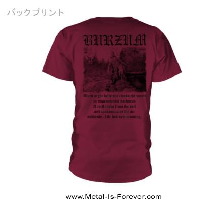 BURZUM -バーズム- FILOSOFEM 「絶望論」 Tシャツver.2(マルーン)