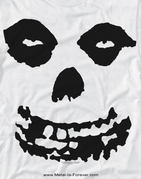MISFITS -ミスフィッツ- ALL OVER SKULL 「オール・オーバー・スカル」 Tシャツ(白)