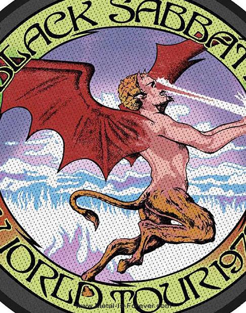 BLACK SABBATH (ブラック・サバス) WORLD TOUR 1978 「1978年・ワールド・ツアー」 ワッペン