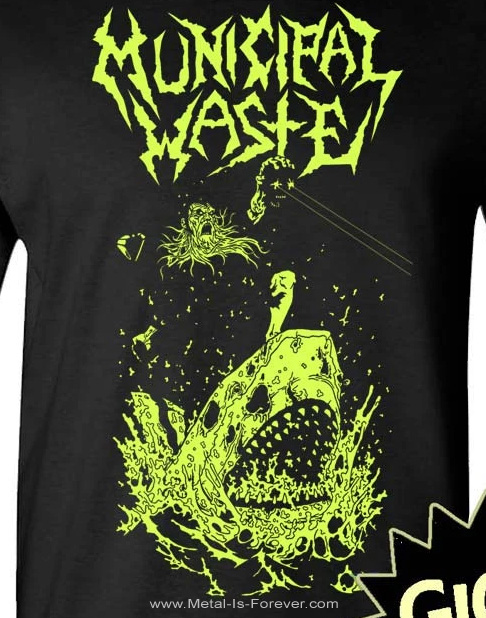 MUNICIPAL WASTE (ミュニシパル・ウェイスト) GLOW SHARK 「グロウ・シャーク」 長袖Tシャツ(暗闇で光る!)